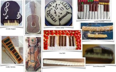 Musikinstrumenten-Kuchen